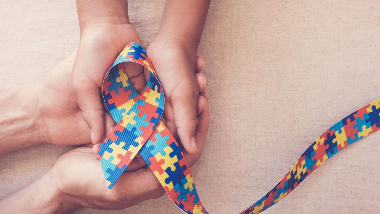 Autism Ribbon with Hands